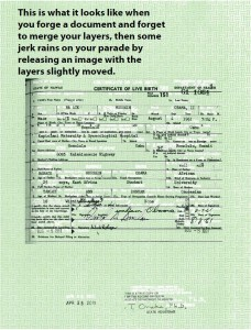 new obama birth certificate forgery